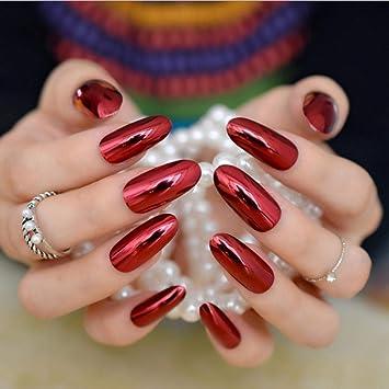 Uñas Postizas Salon De Uñas Nail Art Acrílico Ovalado Kit De Uñas ...