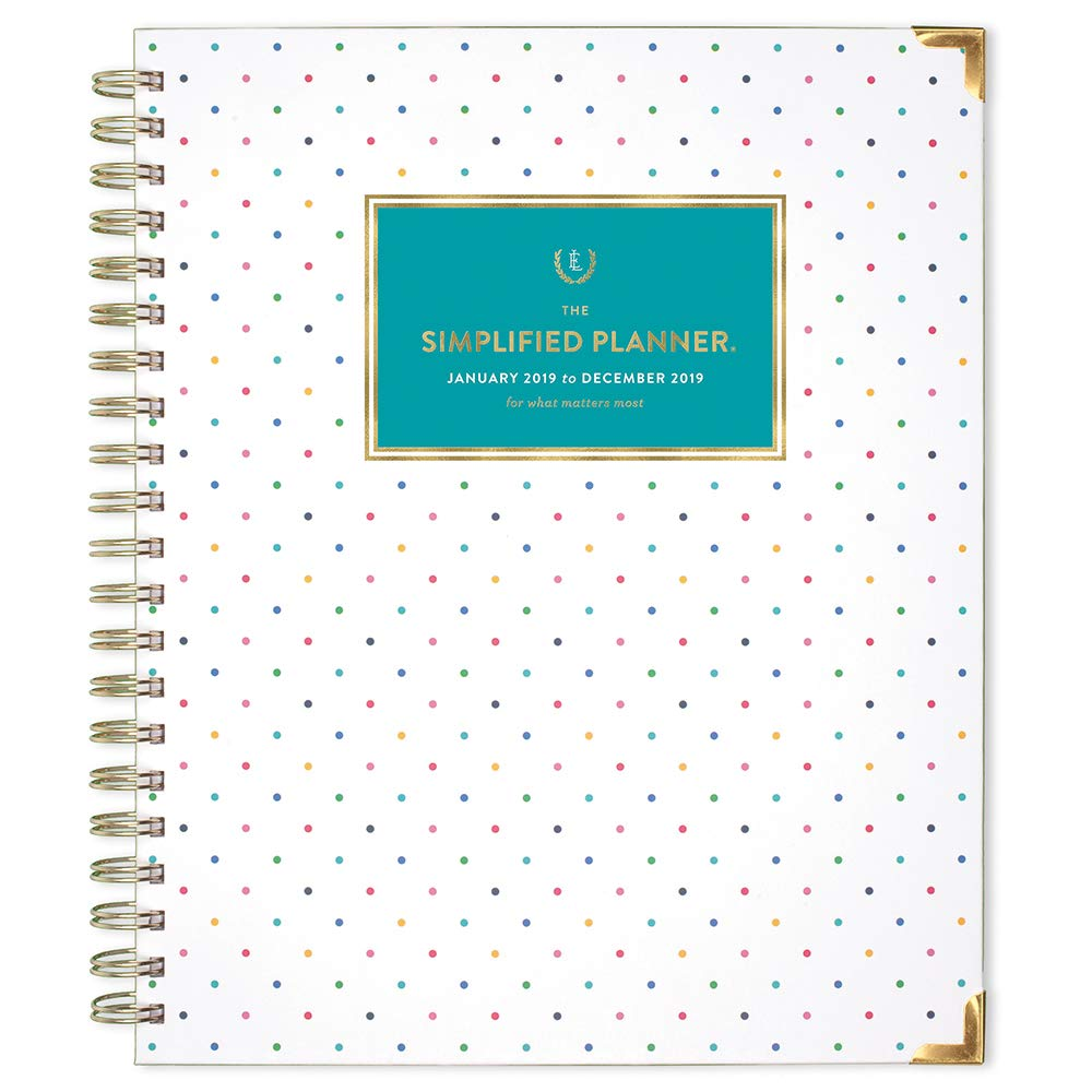 picture regarding Simplified Planner named Emily Ley 2019 Weekly Regular monthly Planner, The Simplified Planner, 8-1/2\