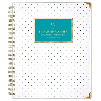 photograph about The Simplified Planner identified as Emily Ley 2019 Weekly Every month Planner, The Simplified Planner, 8-1/2\