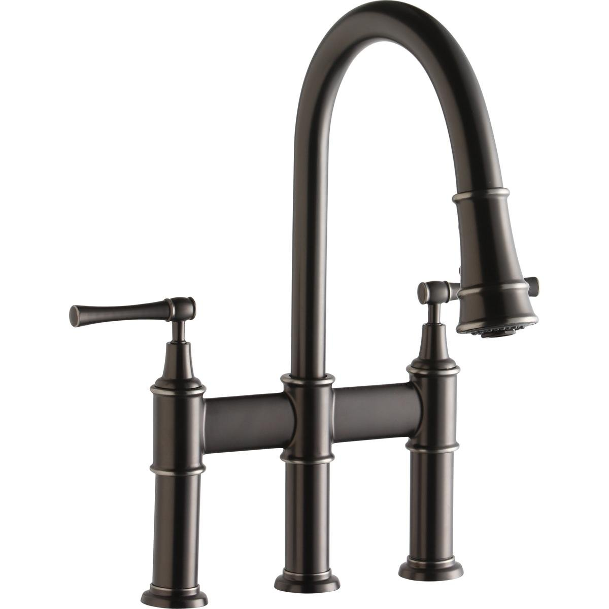 Elkay LKEC2037AS Explore Antique Steel Double Lever Pull-down Spray ...