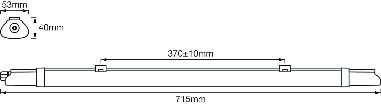 Ledvance Submarine Plafoniera Stagna Integrated Slim Value 600 18W Luce Naturale 4000K