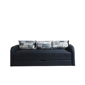 Schlafsofa Rafael B, Sofa Couch mit Bettkasten und Schlaffunktion ...