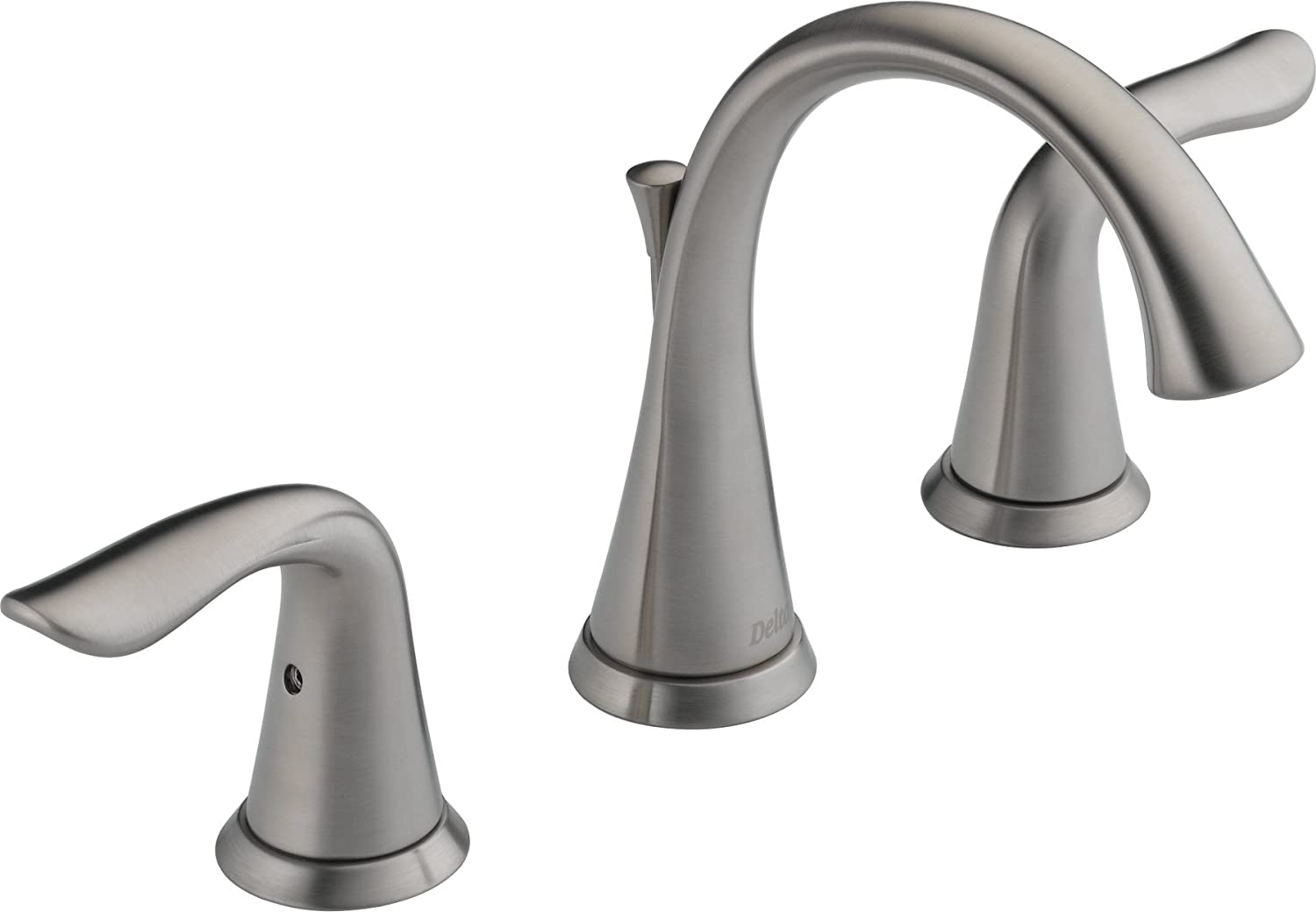 Delta 3538LF-SS Lahara Two Handle Widespread Bathroom Faucet ...