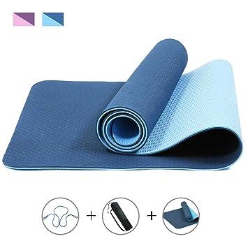 ROMIX Esterilla Yoga, Exercise Mat Eco-Friendly 6MM de ...