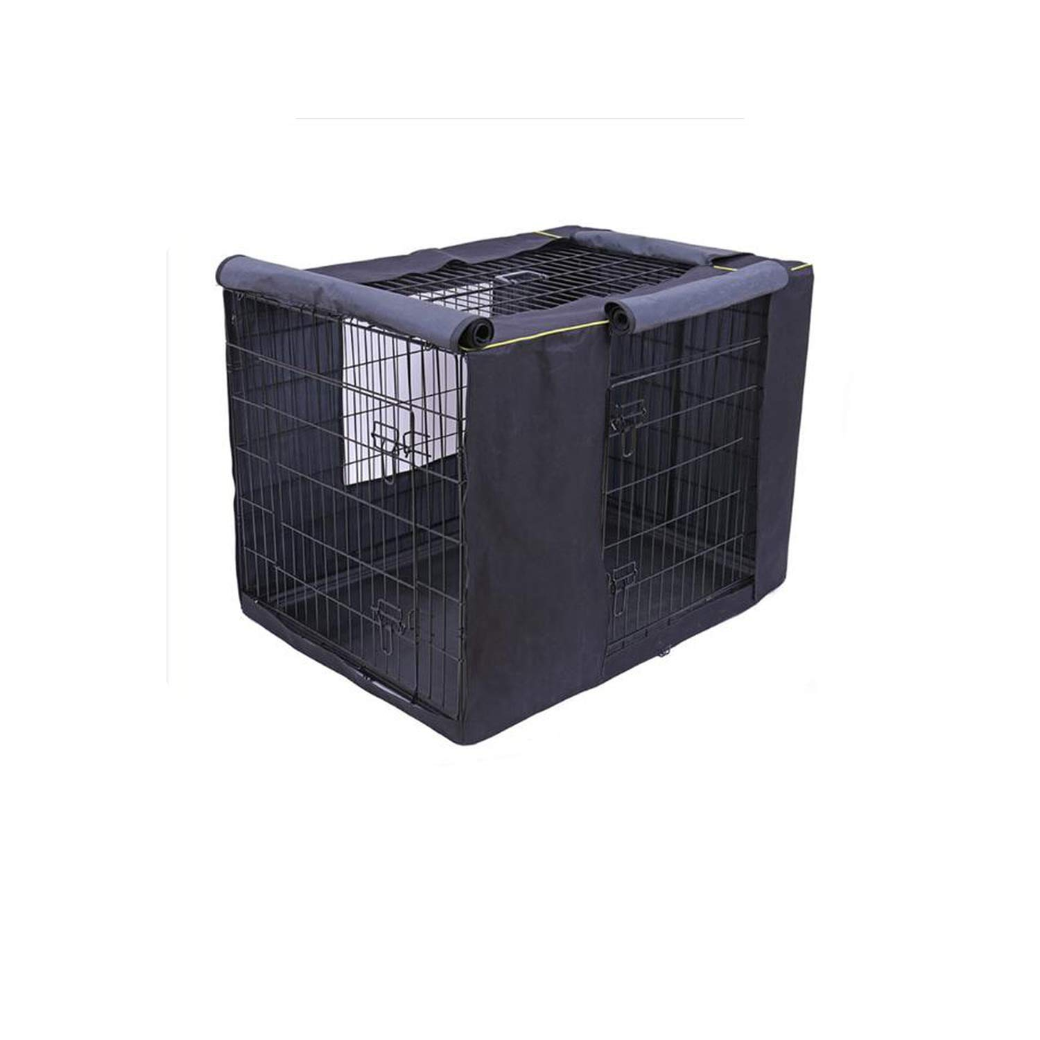 UwiC Pet Dog Cages Cover Waterproof Non-Slip Solid Extra Kennel Cage Cover for Medium Large Dogs 3 Sizes Travel Training Dog Products,Black,L