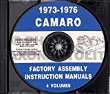 1973 1974 1975 1976 CHEVY CAMARO FACTORY ASSEMBLY INSTRUCTION MANUAL CD. Covering: Z/28, Z28 RALLY SPORT (RS). LT, SUPER SPORT (SS), - CHEVROLET