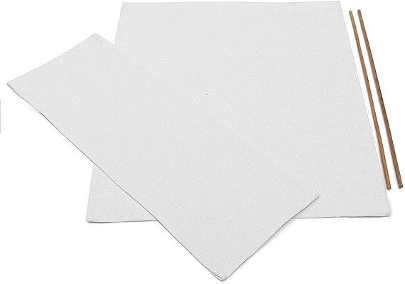 PopHMN Kit De Cubierta De Sillas De Directores, Fundas De Asiento De Lona De Repuesto Duraderas Protector De Taburete 21 X 11 21 X 17 2 Tamaño (Negro) (Blanco) (Azul)