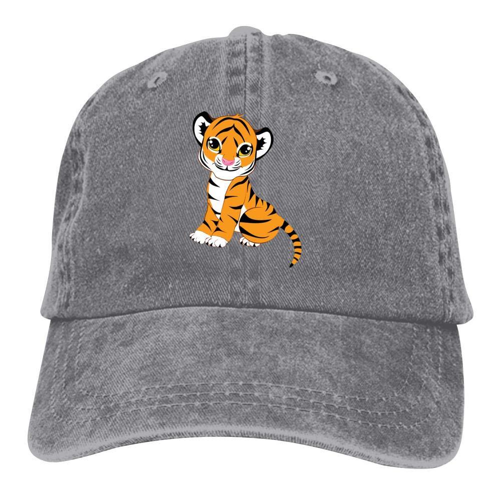 35d5a9849 Little Tiger Cub Double Buckle Adjustable Cowboy Personality Retro Cowboy  Hat Black at Amazon Men's Clothing store: