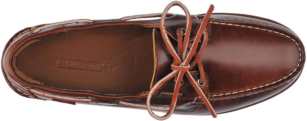 Sebago Ranger Waxy 7001HU0 Mens Brown Wide 2E Leather Casual Lace Up Boat Shoes