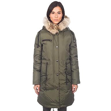 Pajar Women's Christina Long Length Parka with Rabbit/Fox Fur Hood ...