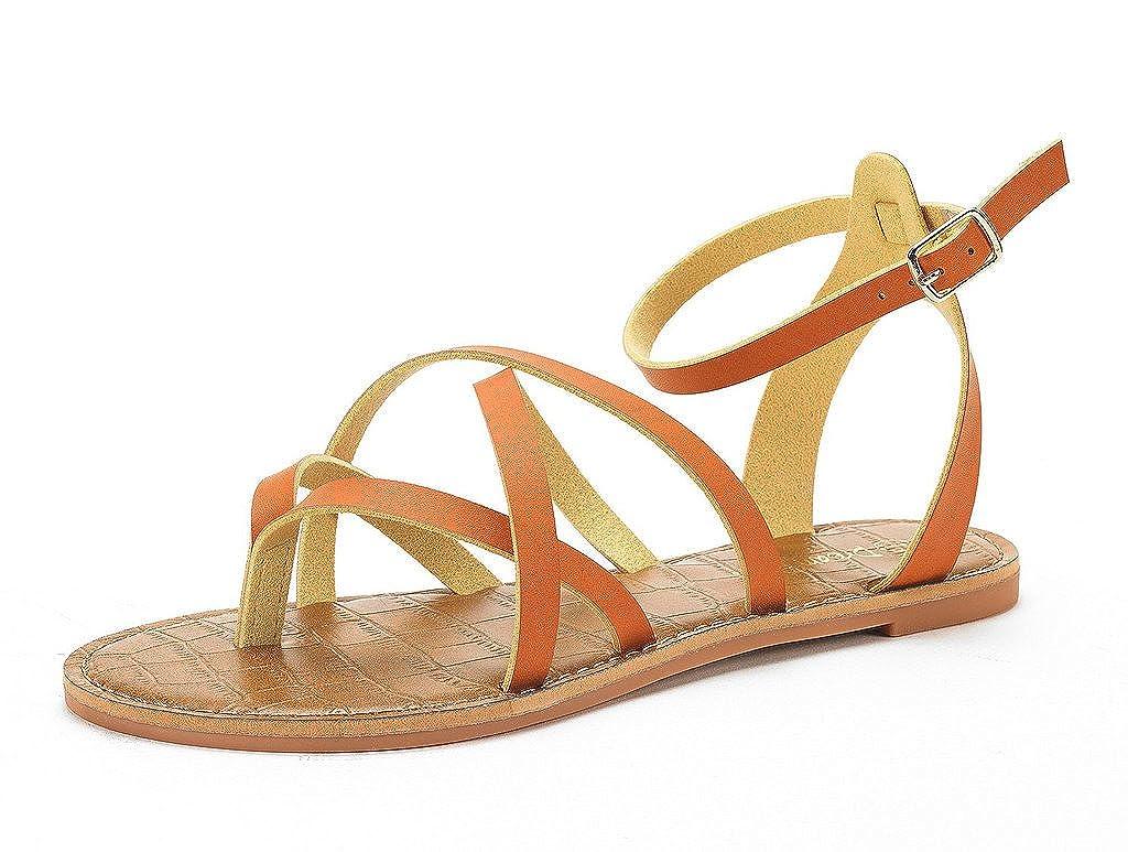 DREAM PAIRS Women's Safari Flat Sandal