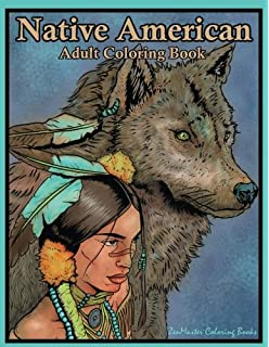 native american adult coloring book coloring book for adults inspired by native american indian cultures - Native American Coloring Book
