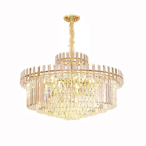 WSZLSD Modern Clear Clear Chandelier Lighting Lámpara ...