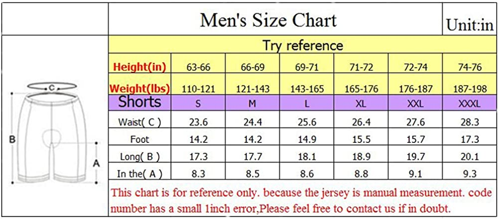 sponeed Bicycle Shorts for Men Cycle Tights Pants Padded Short