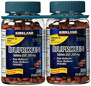 USP Ibuprofen, 200 mg, 500 Tablets (Pack of 2)