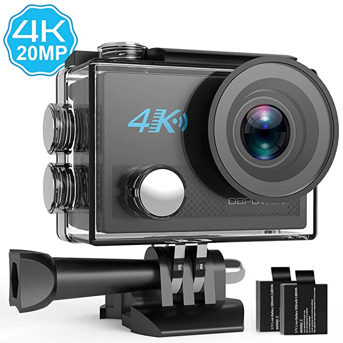 102 opinioni per DBPOWER 4K Action Camera 20MP Ultra HD EIS WiFi Action Cam, 30M / 98ft