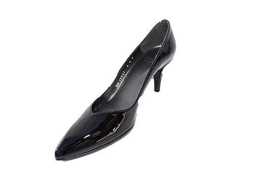 87bd97a043 Image Unavailable. Image not available for. Color: Stuart Weitzman Womens  Femme Jet Black Patent Leather Pumps Heels Size 5 M