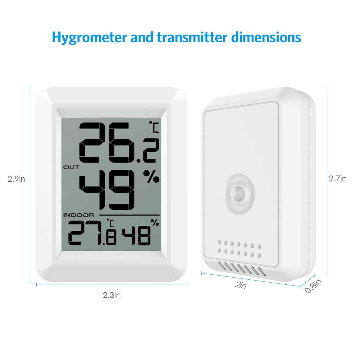 amir hygrometer thermometer innen au en thermometer. Black Bedroom Furniture Sets. Home Design Ideas