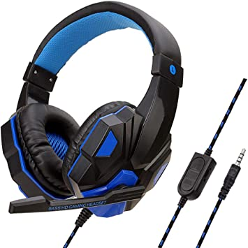 WRISCG Auriculares Gaming para PS4 Xbox Nintendo Switch, Cascos ...
