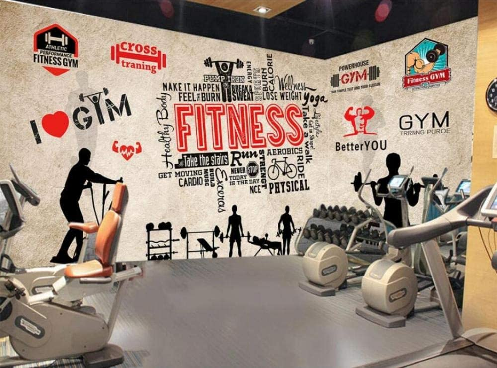 3D Custom made Gym Removable and Reusable Full Wall Mural