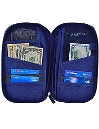 Hopsooken Travel Wallet & Passport Holder Organizer Rfid Blocking ID Card Pouch(Darkblue)