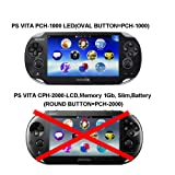 COSMOS Black Aluminum Metallic Protection Hard Case Cover for Playstation PS VITA 1000 Series, Fits for Oval Start & Select Button Only