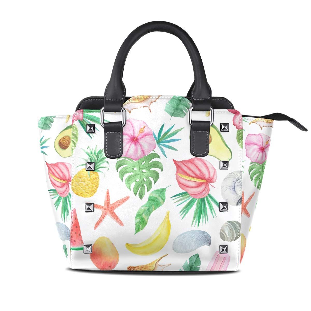 Design 2 Cat Girl Top Handle Satchel Handbags Leather Tote Adjustable Shoulder Rivet Bag for Women