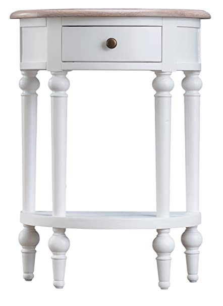 French Country White Telephone Table / Lamp Unit