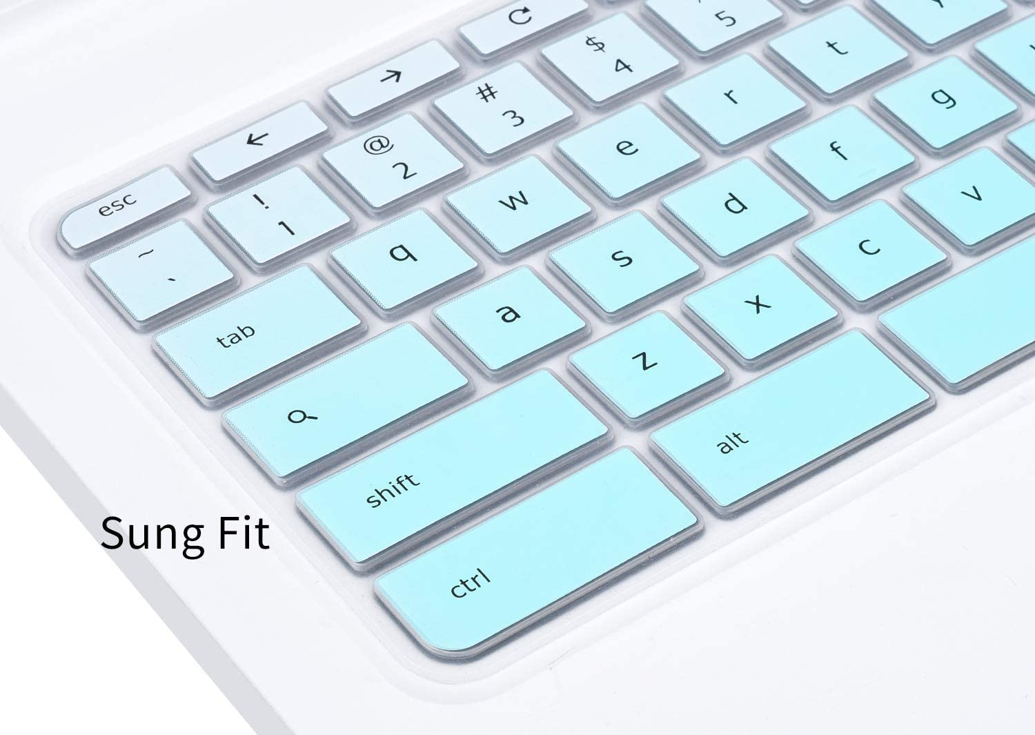 Keyboard Cover for 2018 Newest Acer 15.6 Chromebook Acer Chromebook 15 CB3-531 CB3-532 CB5-571 C910 CB515 Chromebook Protective Skin Gradual Mint Green