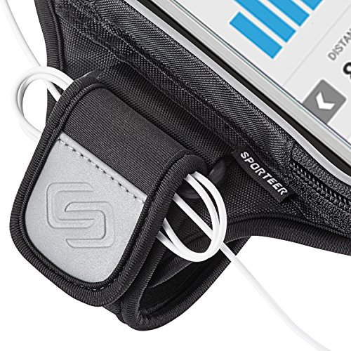 Sporteer Entropy E8 Modular Armband for iPhone 8 Plus, 7 Plus, Galaxy Note 8, Galaxy S8, S8 Plus, Pixel XL, LG G6, LG V30, Moto X4, G5S Plus, Nexus 6P, Xperia XZ, and Other Phones/Cases (M/L Straps) by Sporteer (Image #7)