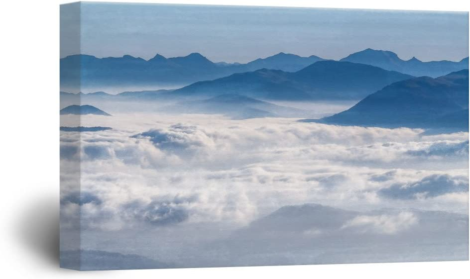 Landscape with Mountains and Clouds, Premium Product, Handsome Expertise