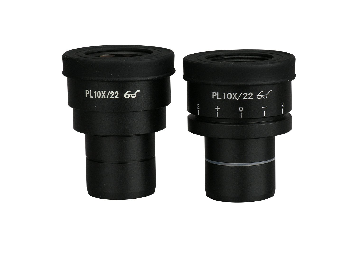 Pair of Extreme Widefield 10X Eyepieces (1 Focusable) (30mm) by AmScope