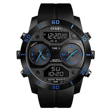 SKMEI Herren Quartz Watches Countdown Analog Digital Display Wristwatch Backlight Multifunctional Watches