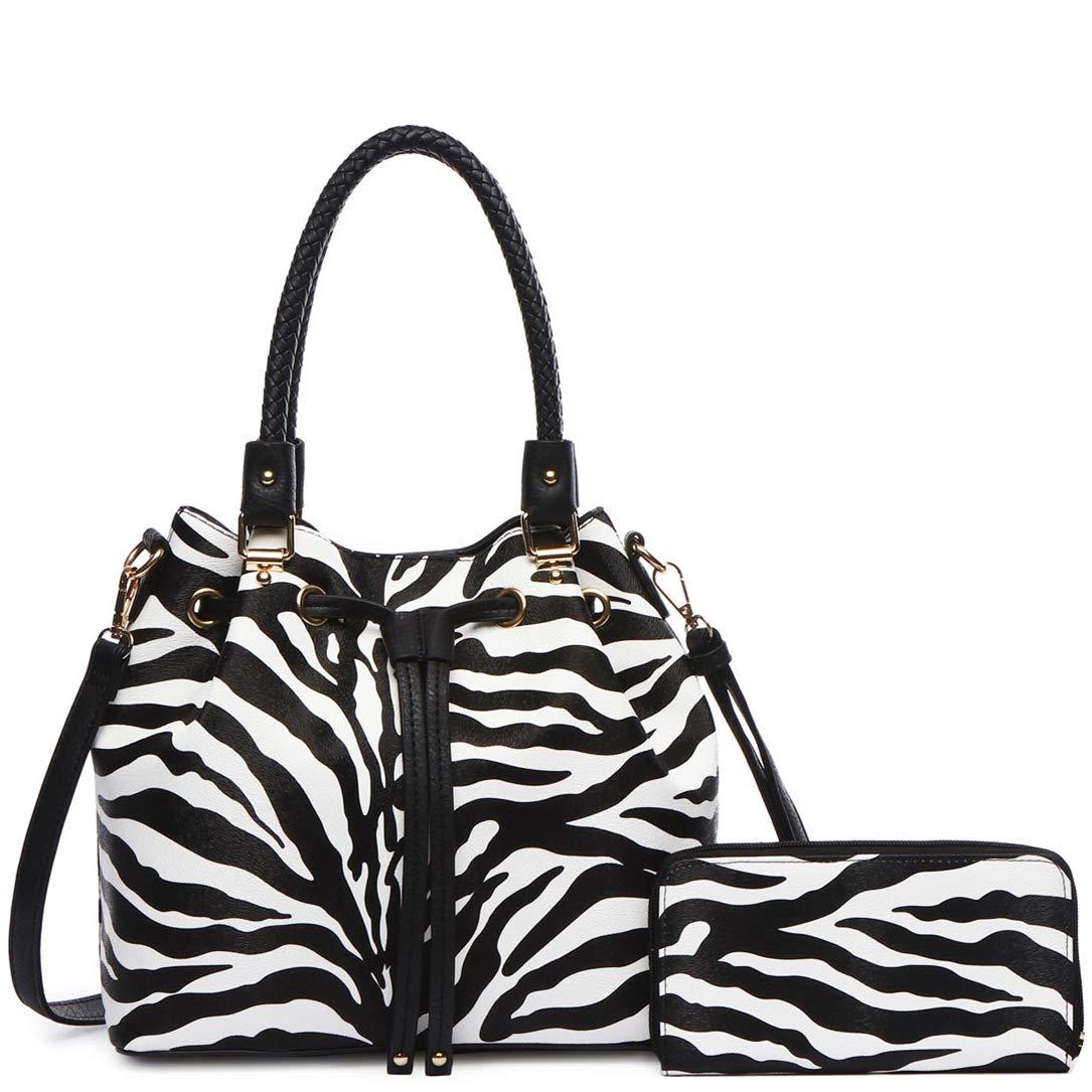 Amazon.com: Zebra - Bolso magnético con cordón para mujer ...
