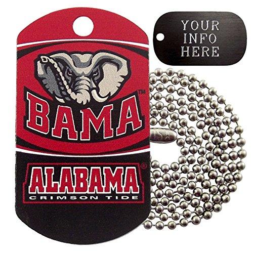 - Customized Alabama NCAA Military Dog Tag Necklace
