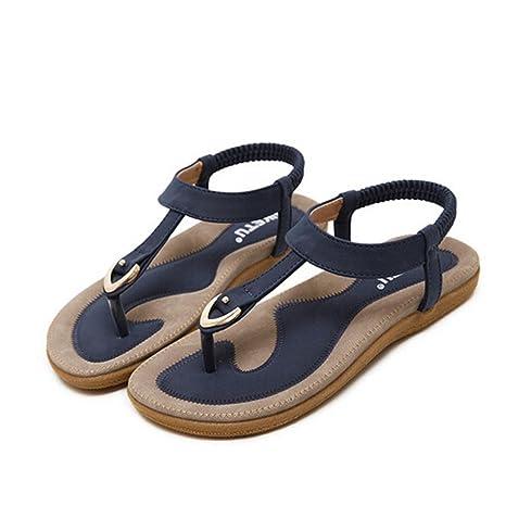 d6ecdb5c65c Image Unavailable. Image not available for. Color  Hemlock Women Bohemia  Flat Sandal Shoes Size 4.5-Size 10 Sandals (US 10