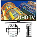 Samsung UN50KU6300 50-Inch 4K UHD HDR Smart LED TV with Tilt Wall Mount, 6 Outlet Power Strip with Dual USB Ports