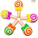 HooMore Jumbo Lollipop Squishies Candy Kawaii Super Slow Rising Creamy Scented Soft Foam Squeeze Decompression Toy or Stress Relief Toy Hop Props, Decorative Props Large 1 Piece Random