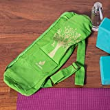 FIT SPIRIT Exercise Yoga Mat Gym Bag with 2 Cargo
