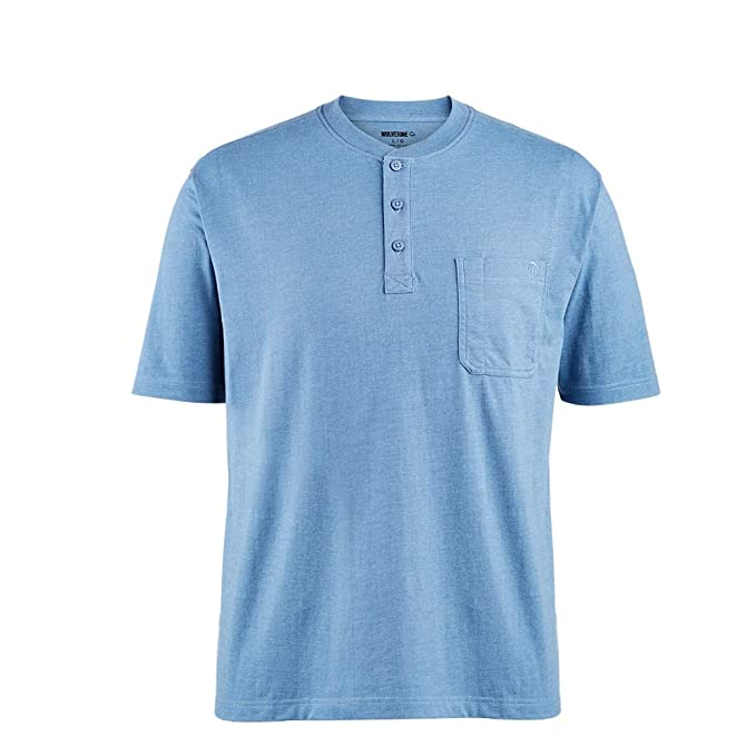 64534793b6cb24 Image Unavailable. Image not available for. Color  Wolverine Knox Short  Sleeve Henley ...