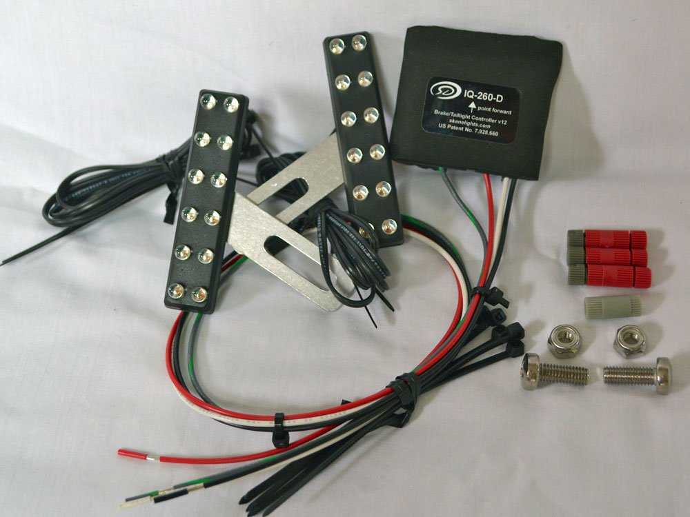 Motorcycle Braking Visibility System with Decelerometer (Compatible With All Bikes)