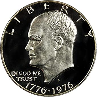 """A 1976-S Eisenhower Dollar Cameo /""""PROOF/"""" 40/% Silver US Mint IKE Lot of 5"""