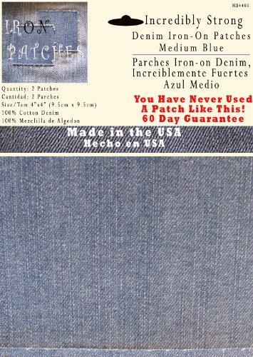 Sewing Patch Jeans - 2 Pack Medium Blue 4