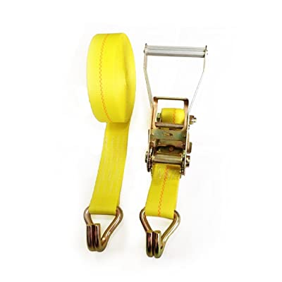 "Seculok 2"" X 27' Heavy Duty Ratchet Tie-Down Strap with Double J Hooks, 10, 000 lb Breaking Strength"