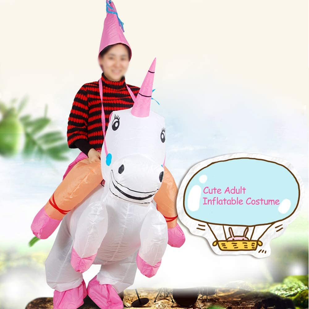 Anself Gonflable Costume Mignon Adulte Dinosaur Costume Air Fan Operated Marcher Fancy Dress Halloween Party Outfit T-Rex Gonflable Costume danimal