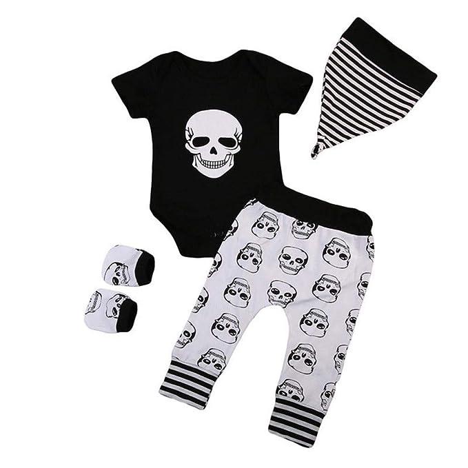 Bestow Cráneo de Halloween de Manga Corta para bebés Niños y Madre de Halloween Impresos: Amazon.es: Ropa y accesorios