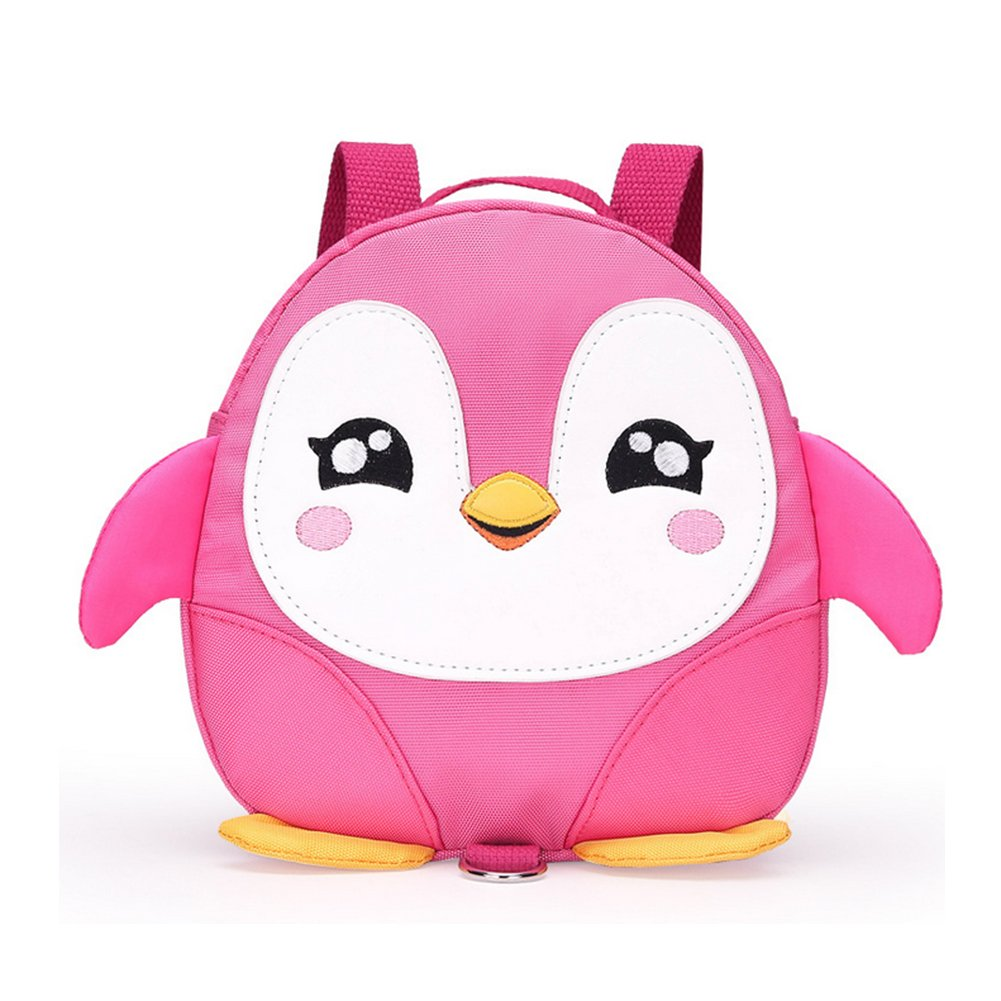 (Pink) - 2017 New Style Cute Cartoon Penguin Mini Backpacks with Safety nylon tape for . Old Baby Toddler Walking Safety Backpack Little Kid Boys Girls Anti-lost Travel Bag (Pink)  ピンク B072C9BWHX