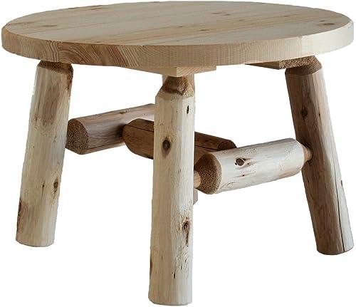 Lakeland Mills Cedar Log Round Coffee Table