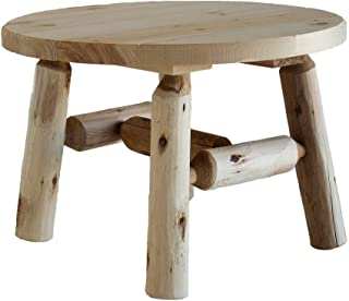 product image for Lakeland Mills Cedar Log Round Coffee Table, Natural