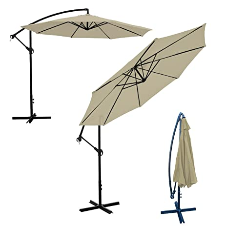 Ordinaire Deluxe 10 Feet Offset Umbrella Patio Off Set Tilt Side Market 8 Rib Crank Up